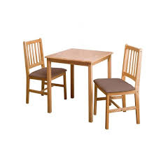 table 2 chairs. home kendall square solid wood dining table \u0026 2 chairs -choc