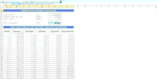Mortgage Calculator With Principal Payments Excel Payment Schedule Amortization Chart Loan In Balloon