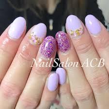 ハンドシンプルホログラムラメワンカラー Nail Salon Acbのネイル