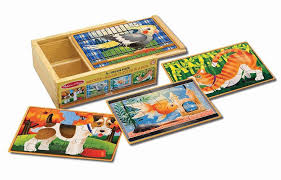 melissa doug pets wooden puzzles in a box