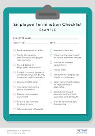 Employee Termination Checklist How To Stay Compliant