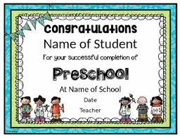 free preschool certificates preschool graduation certificate editable worksheets