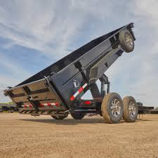 black dump trailer in dump position construction pro tips