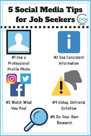 Tips For Job Seekers 5 Social Media Tips For Job Seekers Techno Goober