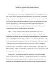 College Vs High School Essay Compare And Contrast Animal Crossing Amiibo Festival Review Nintendo World Report