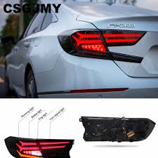 2018 Honda Accord Brake Lights Us 280 09 10 Off 2pcs Car Taillight Tail Lights Case For Honda Accord 2018 2019 Led Taillights Case For Accord Tail Lamp Rear Trunk Lamp Cover In
