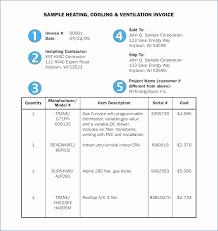 Hvac Invoice Templates Inspiration Hvac Service Order Invoice Template Fresh Hvac Service Invoice Free