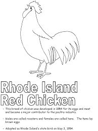 Small Picture Rhode Island Red coloring page
