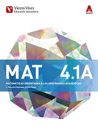 MAT 4 A. Matemáticas Enseñanzas Académicas. Libro 1,2 Y 3 (Aula