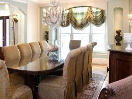 formal blue dining room with