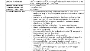 Resume Letters Server Job Description Resume Example Resume