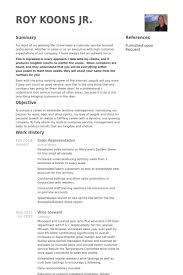 Sales Representative Resume Samples Visualcv Resume Samples Database