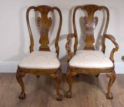 antique queen anne chairs for sale. description: 10 foot walnut english georgian pedestal dining table set matching queen anne chairs you are viewing a gorgeous antique for sale