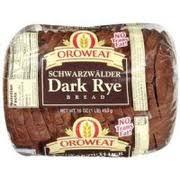 Oroweat Schwarzwalder Dark Rye Bread Calories Nutrition Analysis