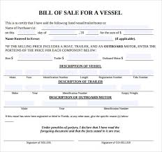 Boat Bill Of Sale Simple 44gun Bill Of Sale Florida Salary Format