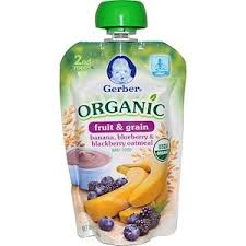 Gerber, <b>Smart Flow</b> , <b>Organic</b>, Banana, Blueberry & Blackberry ...