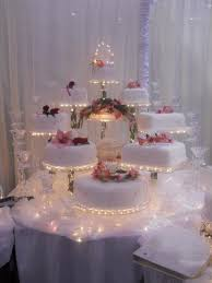 lighted wedding cake display stand