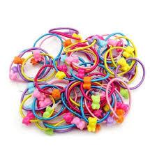 <b>5pcs High Quality</b> Carton <b>Round</b> Ball Kids Elastic Hair bands Elastic ...