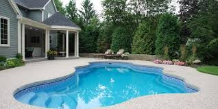 Backyard Pool Designs Landscaping Pools Gorgeous Fiberglass Pools Pros Cons Costs