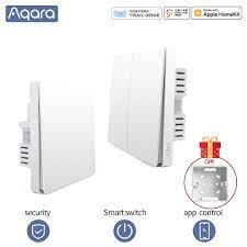 Aqara duvar anahtarı akıllı anahtar kablosuz ışık anahtarı tel ZigBee wifi  bağlamak için mihome akıllı ev uzaktan kumanda|Switches