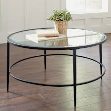 Furniture, Black Minimalist Glass Round Coffee Table Designs Ideas As  Living Room Sets: glass