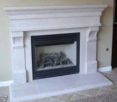 Delectable Stone Fireplace mantel kits with tan wall and ceramics floor