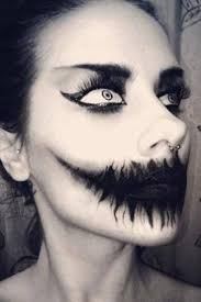 image result for scary y face makeup