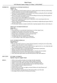 Data Center Technician Resume Sample Data Center Technician Resume Samples Velvet Jobs 1