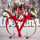 Красный свадебный набор своими руками 96