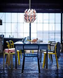 ikea exploding pendant lamp star over dining table