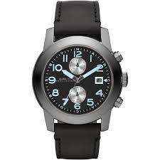 marc jacobs men s mbm5054 larry watch francis gaye jewellers men 039 s black leather strap larry chronograph watch