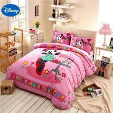 disney princess duvet cover double mouse bedding sets cotton bedclothes cartoon bed covers for girls