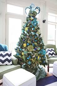 Blue Green Christmas Tree Decorations