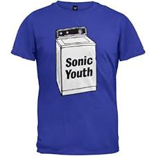 Official <b>Sonic Youth</b> - <b>Washing</b> Machine - Blue Cotton T Shirt (Medium)