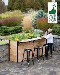 Outdoor Bar Reclaimed Wood Outdoor Bar Tall Planter Patio Plant A Bar 2x8
