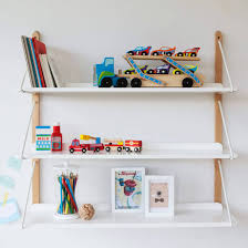 engaging white wall shelf 37 mounted unit corner stained wooden decorative for kids room design bathroom