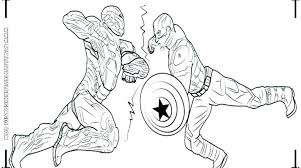Captain America The Winter Soldier Coloring Pages Captain Color