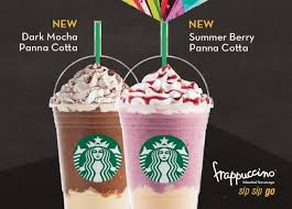 starbucks frappuccino flavors 2015. Modren 2015 Starbucks Launches New Frappuccinos With Panna Cotta In Singapore Throughout Frappuccino Flavors 2015 N
