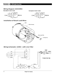 ridgid 700 wiring diagram wiring diagram libraries installation of brush lead wires wiring schematic 230v installation of brush lead wires