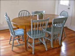 painting for dining room. Painting Dining Room Table With Chalk Paint In Brown And Then The Chair Bluish Grey For