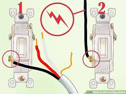 how to wire a 3 way switch (with pictures) wikihow 4 way switch wiring at 3 Way Switch Wiring Diagram Power At Switch