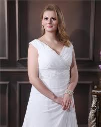 Elegante Weiß Brautkleider Große Größe Günstig Träger A Linie ...