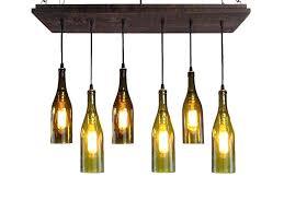 glass bottle chandelier bottle chandelier wine recycled glass bottle chandelier