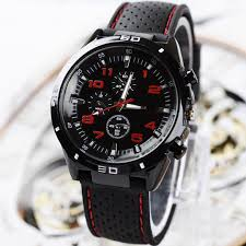 luxury men silicone analog sport quartz black watches boys wrist luxury men silicone analog sport quartz black watches