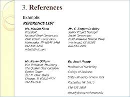 Resume References Format Examples Should A Have Include In To Put