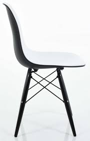 black side chair. Eiffel-side-chair-with-black-back.jpg Black Side Chair F