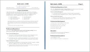 One Page Resume Examples One Page Resume Samples One Page Resume