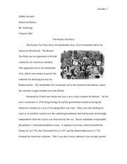 boston tea party blake anna blake history christopher  7 pages boston tea party essay