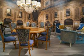 crystal dining room for luxurious impression. Even The Spare Use Of Baroque Elements Amps Up Luxury. Crystal Dining Room For Luxurious Impression