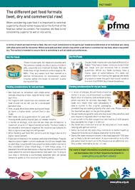 The Different Pet Food Formats